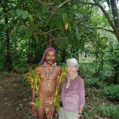Making friends in Papau New Guinea
