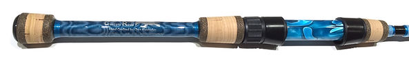 Flor grade cork split grip, decorative wrapping and acrylic reel seat insert