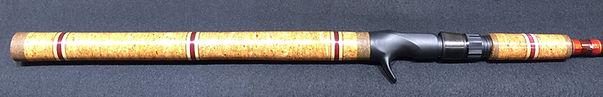 Burl cork grip withpadauk and maple wood inlays