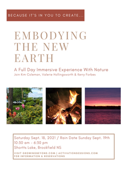 Embodying The New Earth; A Full Day Immersive Experience With Nature ------ Visit the Event pg. for more details.