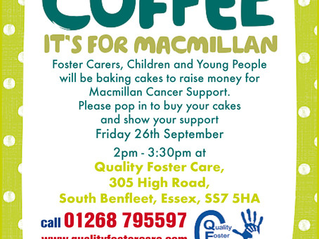 Macmillan - Come for Coffee and Cake!