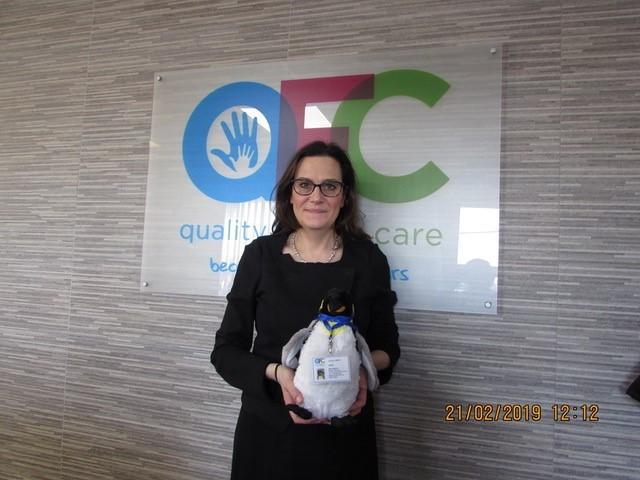 Rebecca Harris MP & Chile the Agency Mascot