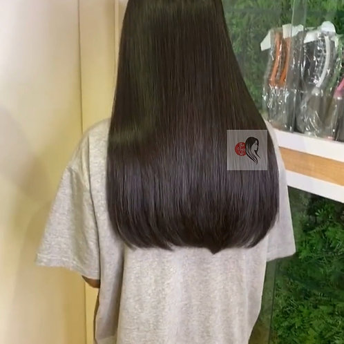 Deluxe Straight  Closure Wig