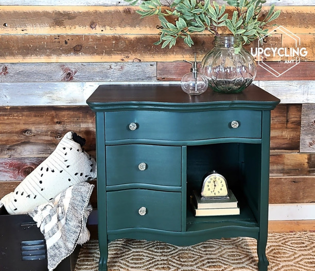 Cabinet turned Side Table