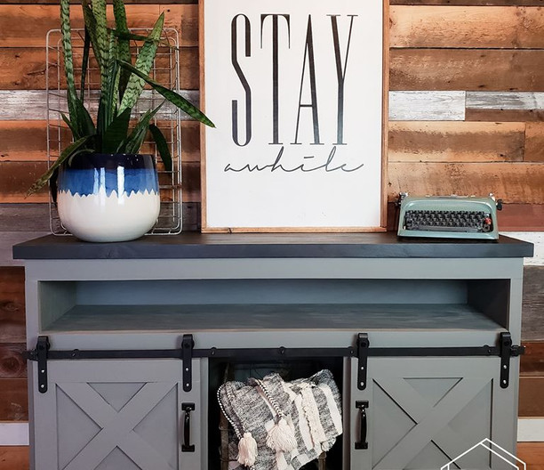 Perfect Grey Custom TV Stand