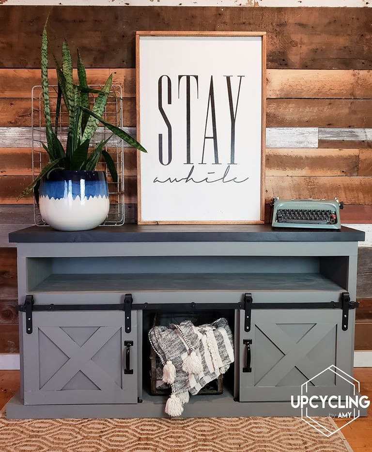 Perfect Grey Custom TV Stand