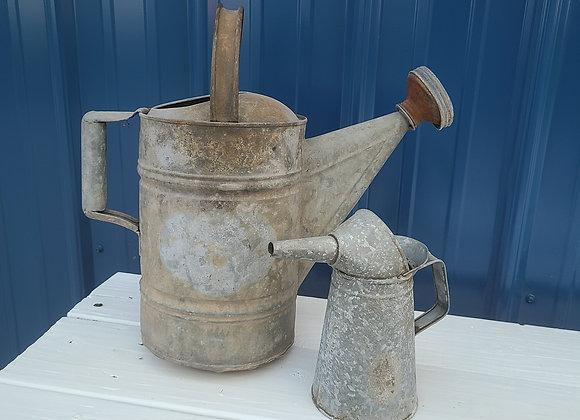 Vintage watering cans
