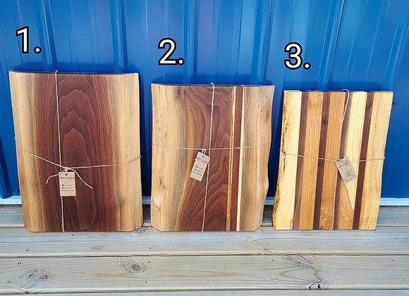 """Big Jim"" size live edge cutting board slabs"