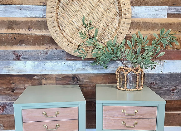Pair of Basil end tables