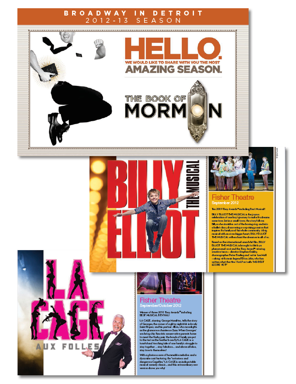 Broadway in Detroit Season brochure