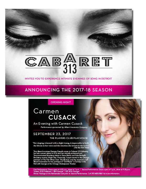 Cabaret 313 Season Brochure