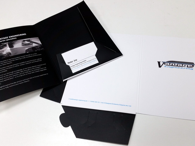 Folder and Inserts for Vantage Engineering