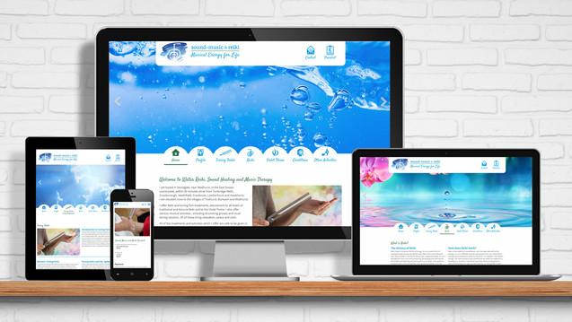 Website for Sound, Music and Reiki