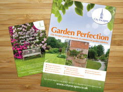 Advertising for City Escapes commercial and domestic gardens company