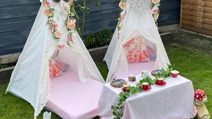 Enchanted Forest Table Set Up Angled