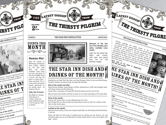 """The Thirsty Pilgrim"" - A Monthly Newsletters for The Star Alfriston"