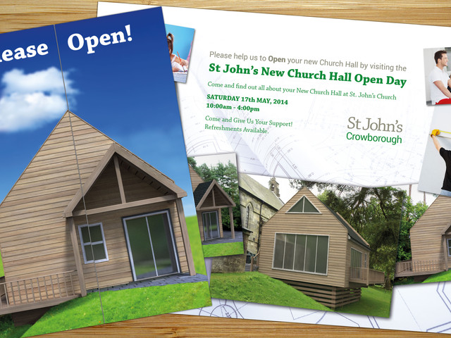 Flyer Design for St Johns Church Open Day Fundraiser