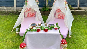 Enchanted Forest Table Set Up Front View