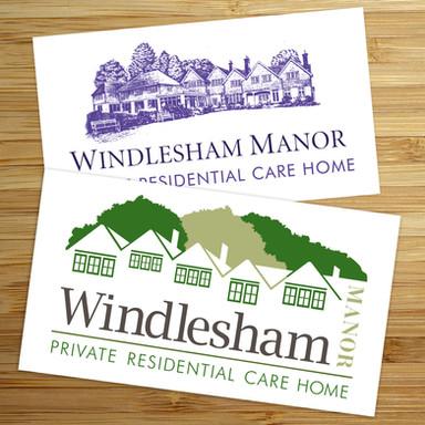 Scroobius Design Windlesham Manor Old and New Logo