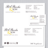 R.A. Brooks and Son Stationery