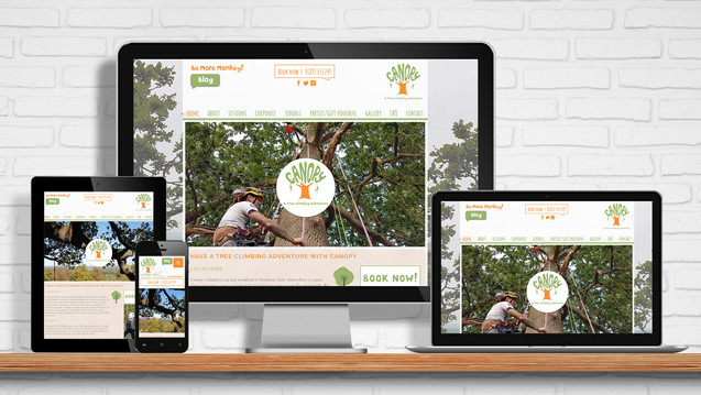 Website and online booking system for Canopy Climbing