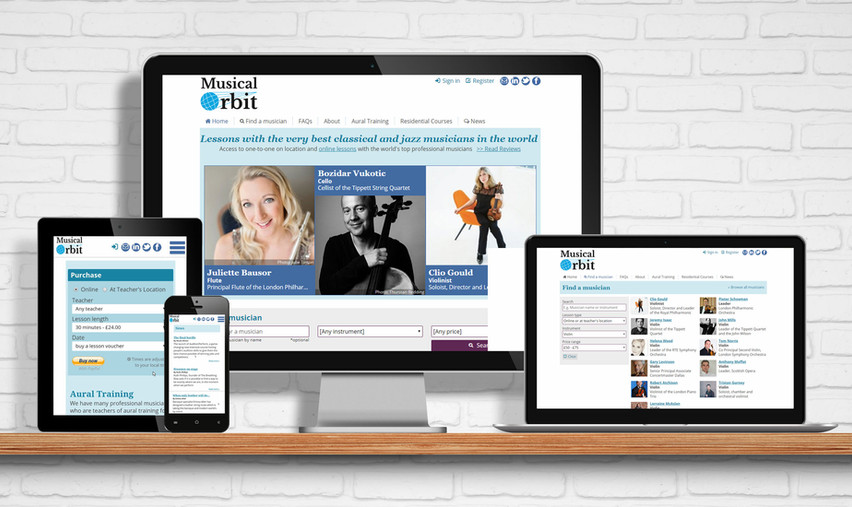 Website and Booking System for Musical Orbit