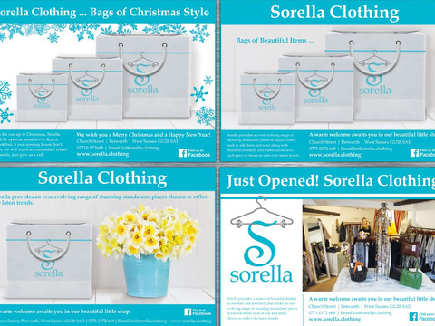 Advertising for Sorella Clothing Petworth
