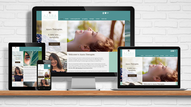 Azara Therapies website and online booking system