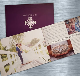 Brochure design for the hotel The Star