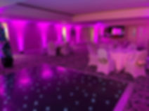 Sussex-discos-Pink-uplighters-in-Burton-