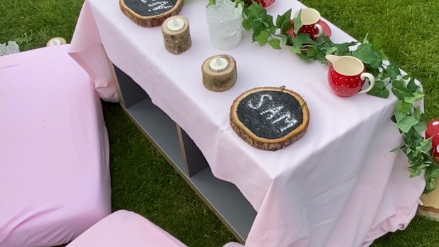 Enchanted Forest Table Set Up