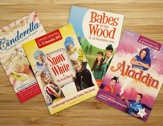 Panto programmes for The Crowborough Players.