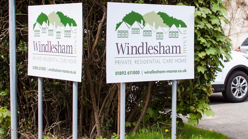 Signage for Windlesham Manor
