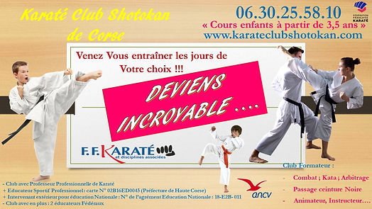 Tarifs et planning karate club shotokan