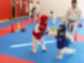 combat enfant, protection karate