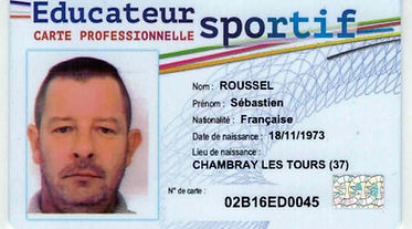 carte professionnelle educateur sportif de karate
