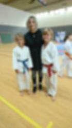karate bastia avec une championne du mon