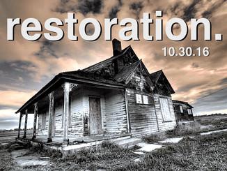sermon: restoration