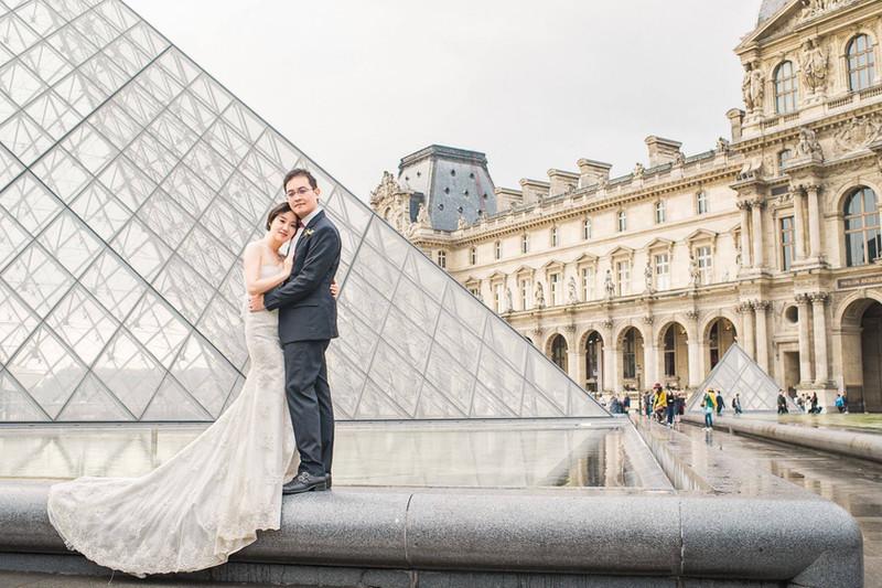 法國羅浮宮婚紗