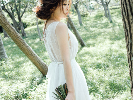 團隊造型師Amy l 台中新秘推薦 l 自助婚紗 l 都會公園彰濱 l 清新自然風格