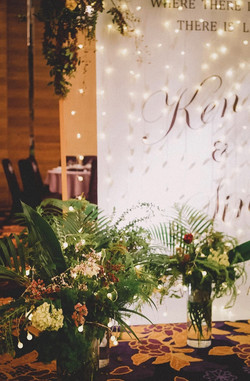 婚禮送客區花藝佈置設計