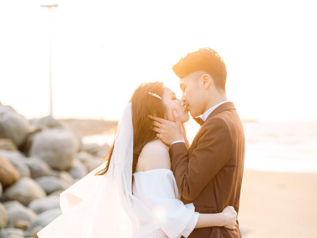 台中新秘推薦/美式婚紗/白紗造型/自然髮型