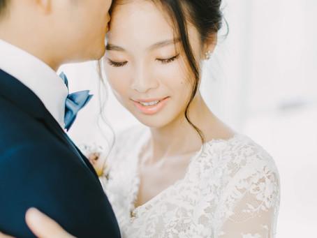 台中新秘推薦/美式婚紗/美式妝髮/美式捧花