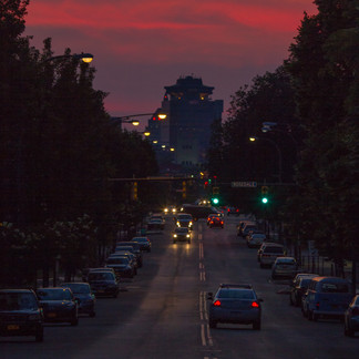Sunset on the Ave