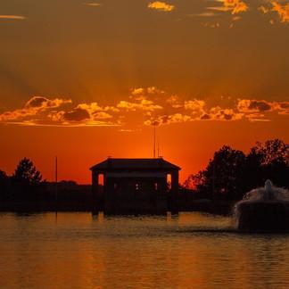 Cobbs Hill Reservoir, Sundown