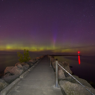 Northern Lights on Lake Ontario