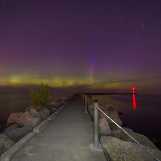 Northern Lights on Lake Ontario