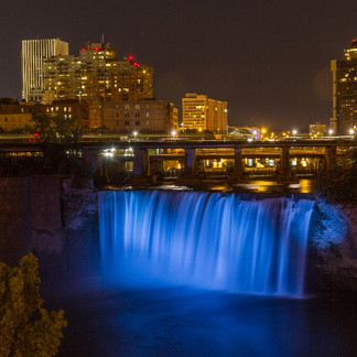 High Falls at Night