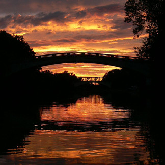 Sunset on Erie Canal