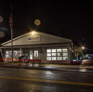 Post Office in Rain